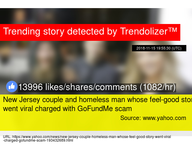 New Jersey couple and homeless man whose feel-good story went viral
