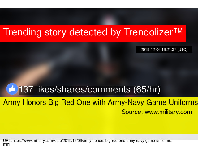 8e50bbda1ee Army Honors Big Red One with Army-Navy Game Uniforms