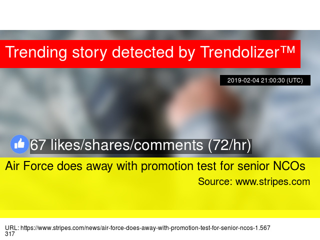 Air Force does away with promotion test for senior NCOs
