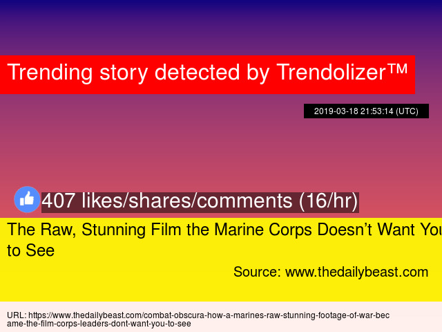 The Raw, Stunning Film the Marine Corps Doesn't Want You to See