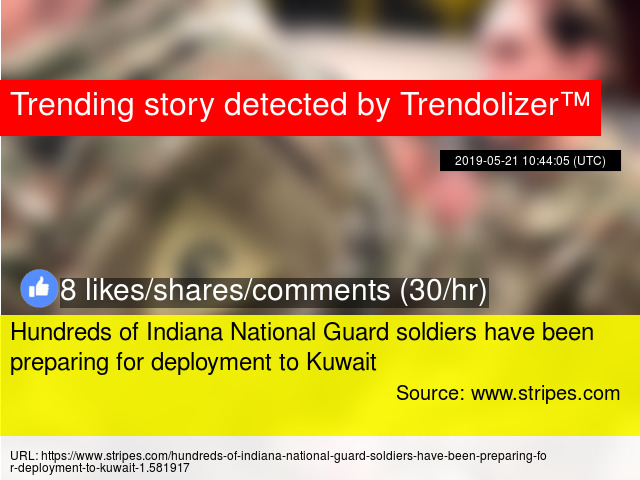 Hundreds of Indiana National Guard soldiers have been