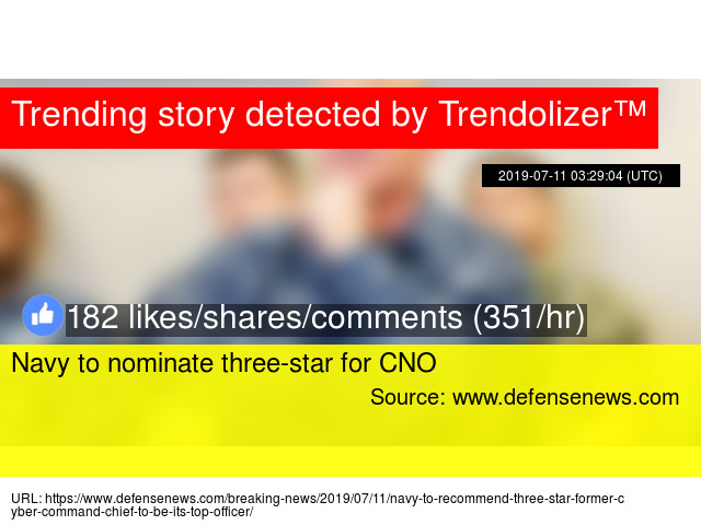 Navy to nominate three-star for CNO