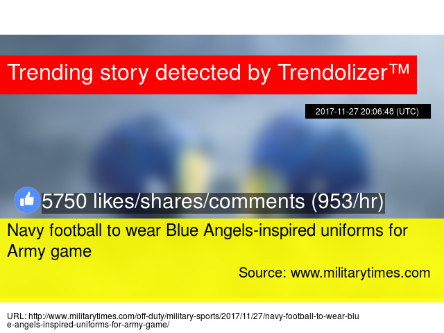 3cb7d2cfd Navy football to wear Blue Angels-inspired uniforms for Army game