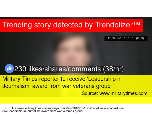 Military Times reporter to receive 'Leadership in Journalism