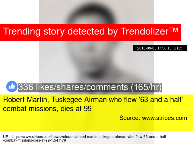 Robert Martin Tuskegee Airman Who Flew 63 And A Half Combat Missions Dies At 99