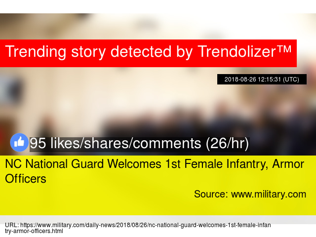 NC National Guard Welcomes 1st Female Infantry, Armor Officers