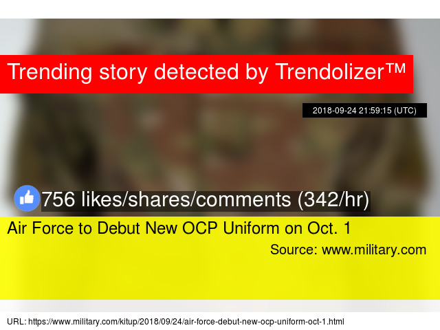 Air Force to Debut New OCP Uniform on Oct  1