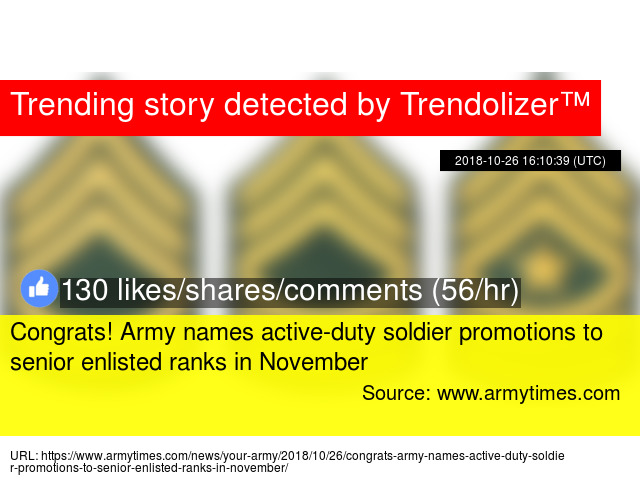 Congrats! Army names active-duty soldier promotions to